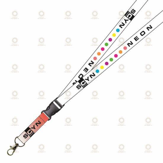 SCYN Neon nyakba akasztható kulcstartó (fehér)